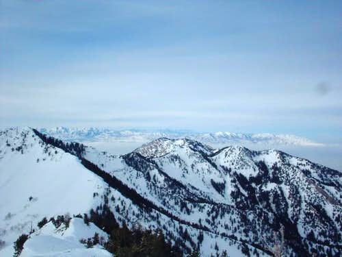 From near the summit looking...
