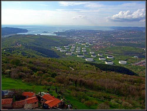 Socerb castle view