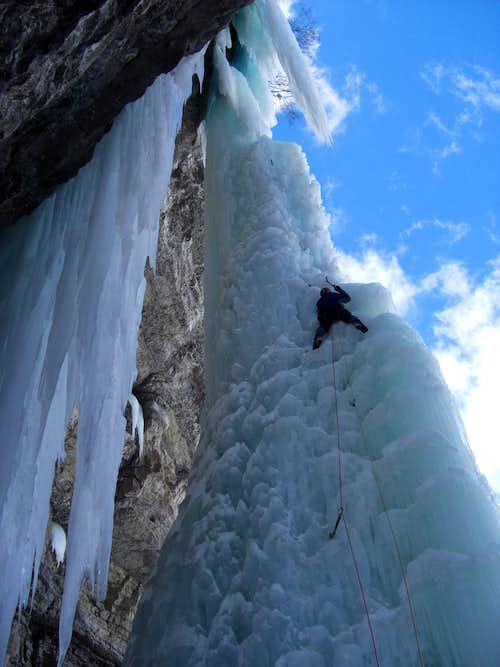 Enjoying climbing the Fang