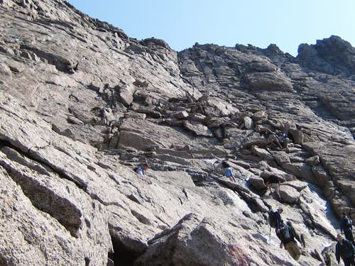 Longs Peak-Looking up the Homestretch-Just under 14,000 ft