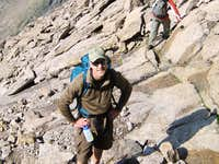 Longs Peak-The Homestretch-Dan looking for O's