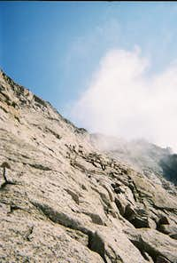 Longs Peak-The Homestretch-Looking up on the descent