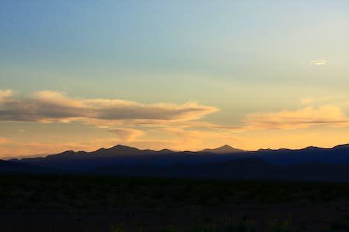 Sheep Range sunset
