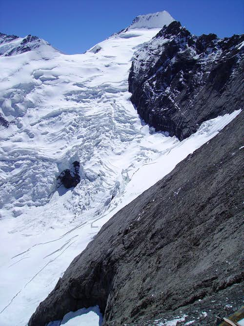 View of slabs from Mittellegi Hut