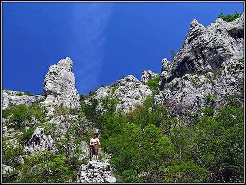Climbers paradise in Val Rosandra / Glinscica
