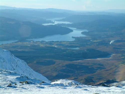 Looking south towards Loch...