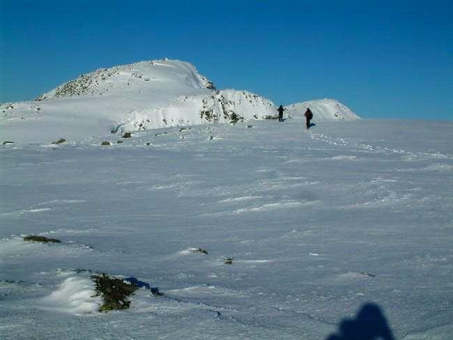 On the ridge towards Stob...