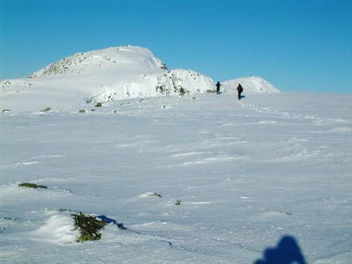 On the ridge towards Stob...