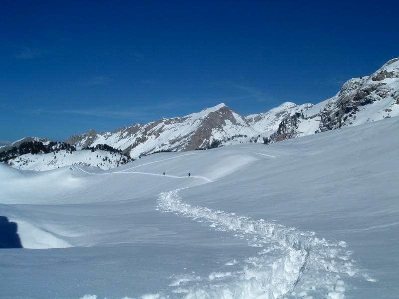 Descent from Maja Jezerce