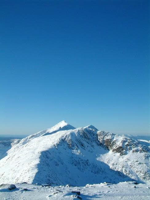 Cruachan and deep blue sky -...
