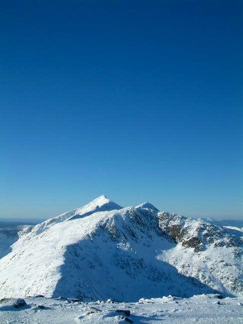 Cruachan and deep blue sky -...