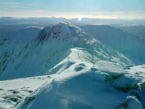 Looking south from Stob Diamh...