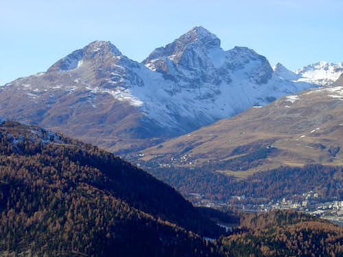 Piz Albana 3100m (left) and Piz Julier 3380m (right)