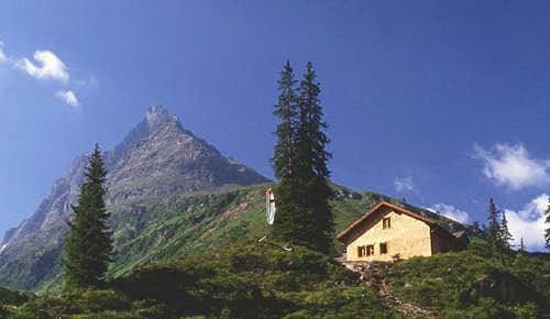 Konstanzer hut (1688 m) with...