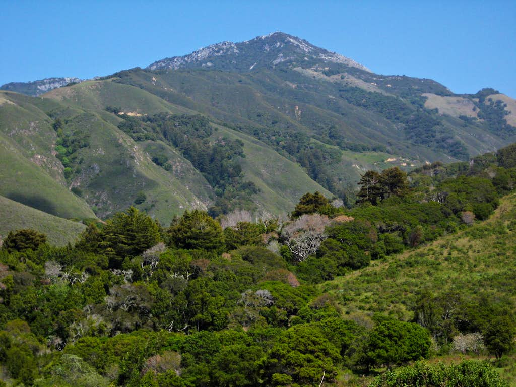 Pico Blanco from Old Coast Road.