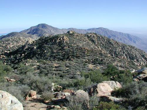 Rabbit Peak (left) and...