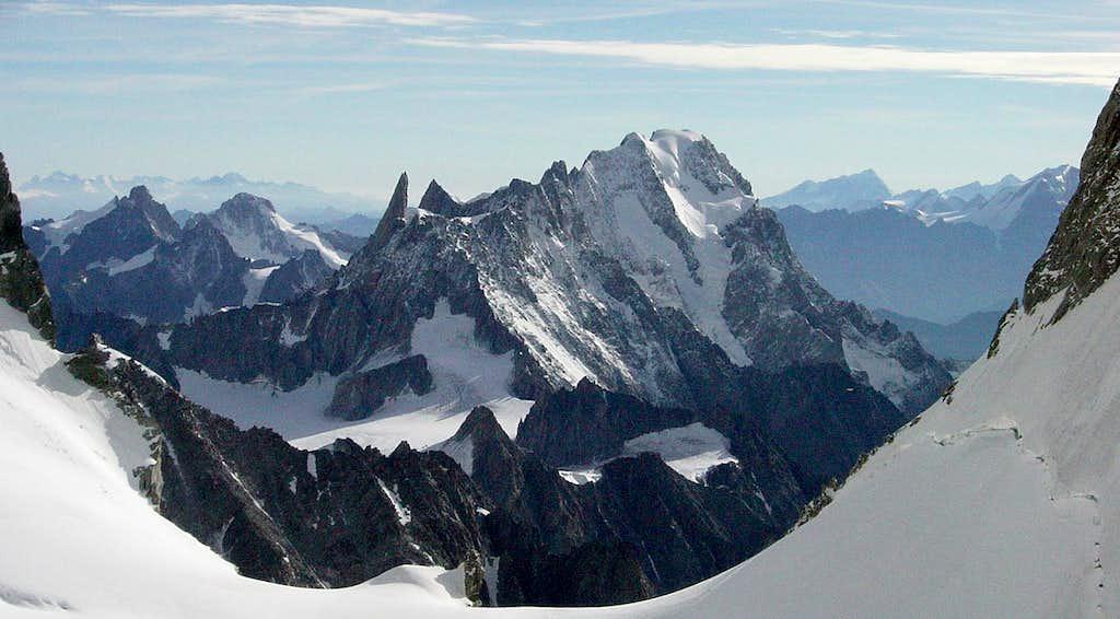 View of Grandes Jorasses from the Innominata Ridge