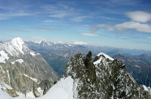 View of  Grandes Jorasses from the Innominata Ridge