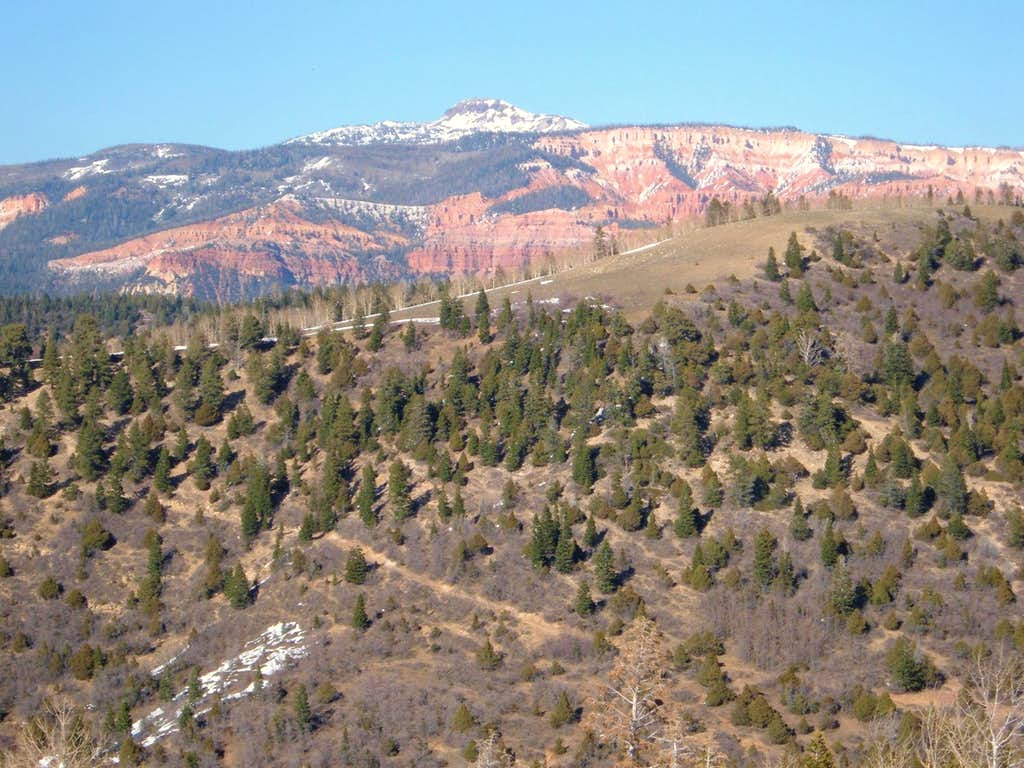 Brian's Head Peak from the ridge