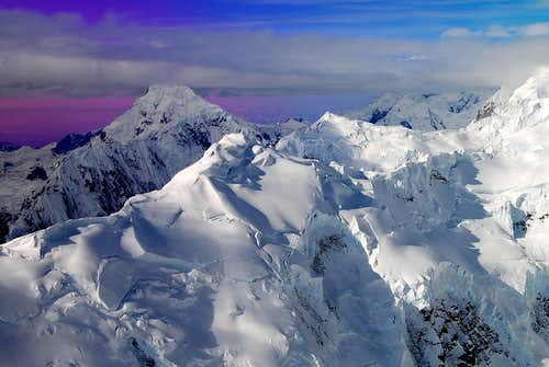 MOUNT FORAKER (17,400\') IN EXCEPTIONAL LIGHTING-ALASKA RANGE
