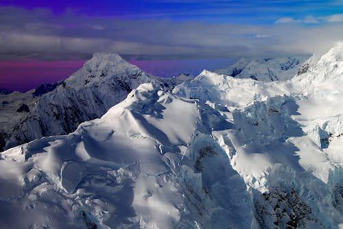 MOUNT FORAKER (17,400') IN EXCEPTIONAL LIGHTING-ALASKA RANGE