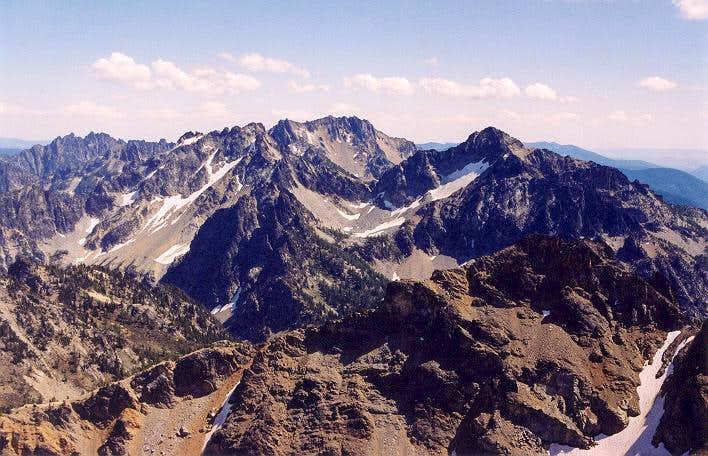 Left to Right: Cloudcomb Peak...