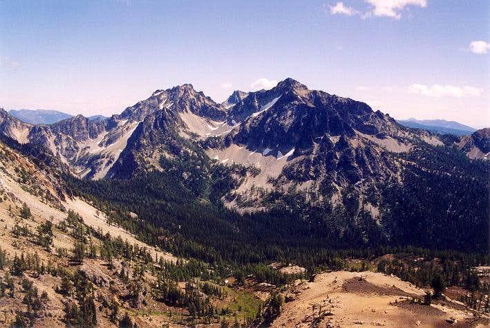 Emerald Peak and Saska Peak...