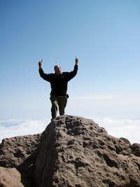 Longs Peak-Summit-K at highest point-14,259 ft
