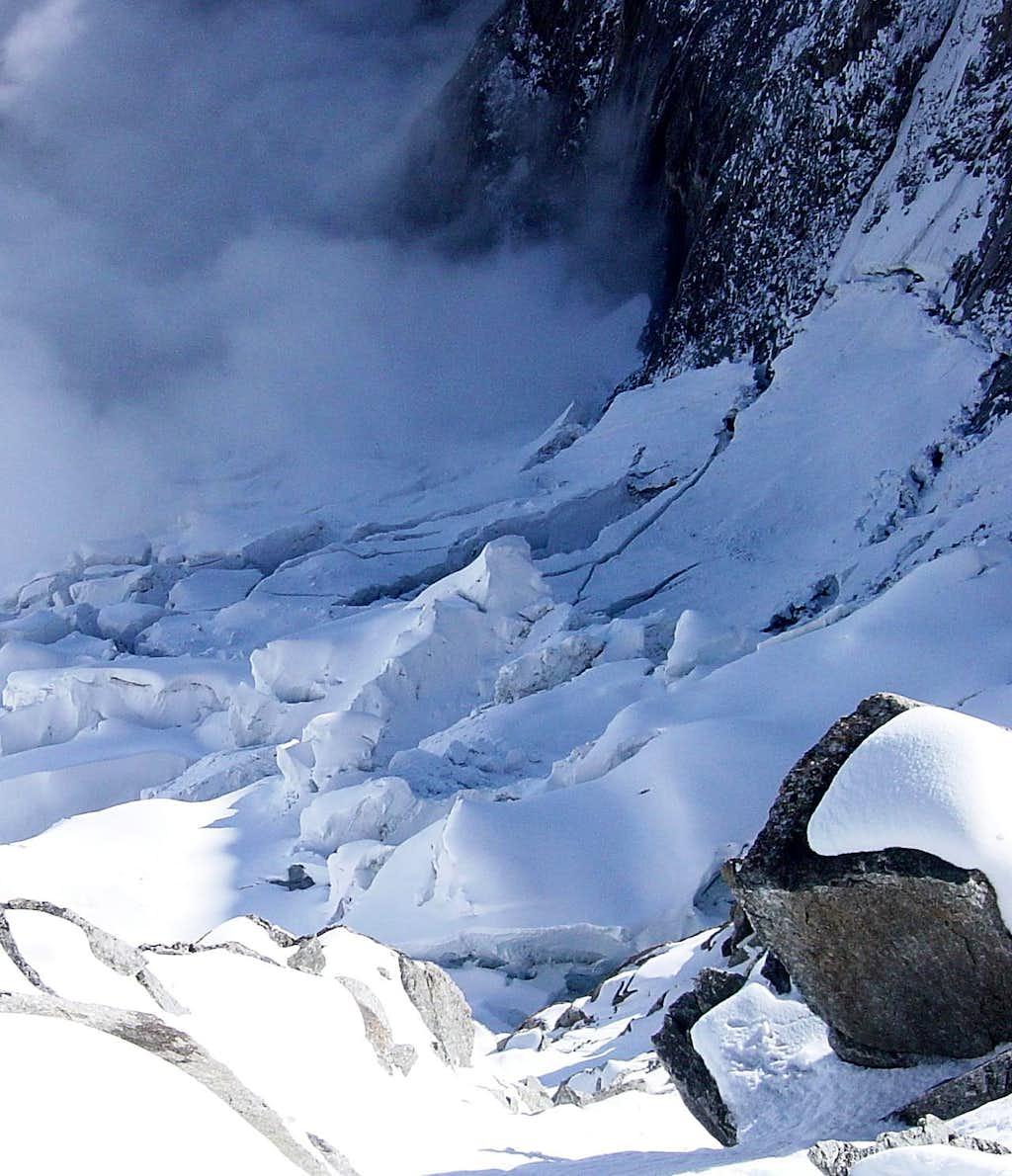 On the Glacier du Brouillard