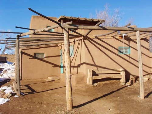 Shadow on Taos Pueblo