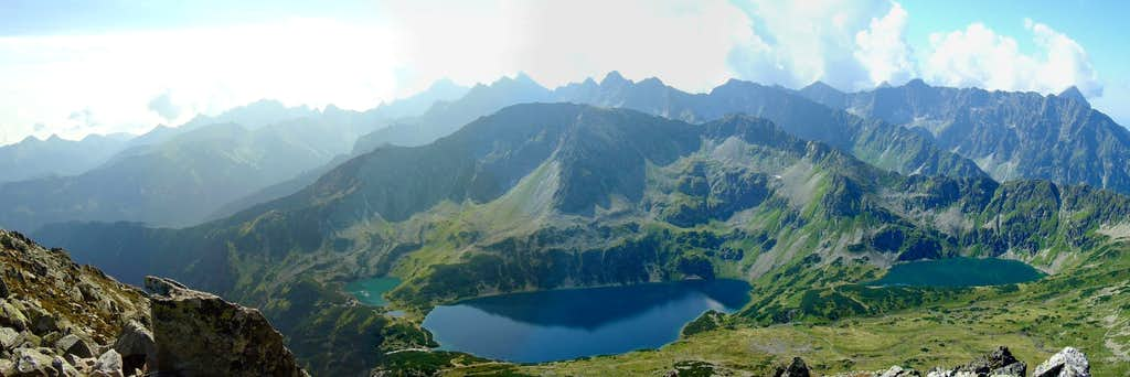 The Polish Five Lakes valley from Kozi Wierch