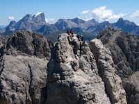 climbers on the top of the Winkler tower