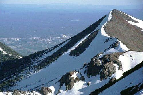 Agassiz Peak with Flagstaff...