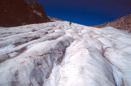 Ascending Andrews Glacier in...