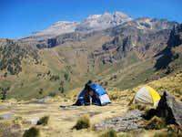 Camp on Ixta