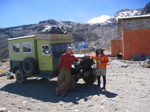 Getting picked up at Orizaba s hut