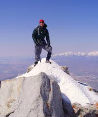 Ammon Hatch on the summit