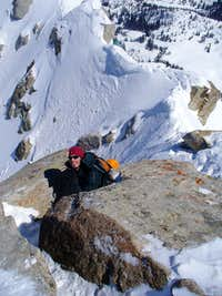 Last steps to the summit cone