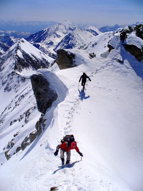 Summit ridge, with Bearclaw and Box Elder in the background