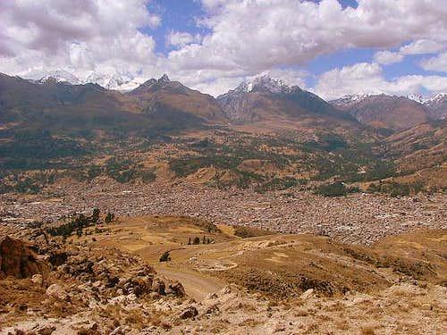Huaraz and Cordillera Blanca, Peru.