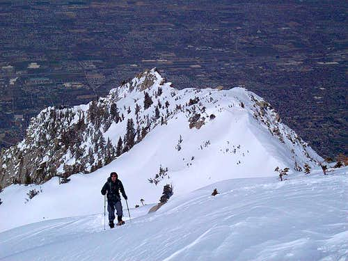 Final slope to the summit