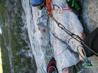 Bear's reach belay ledge 1