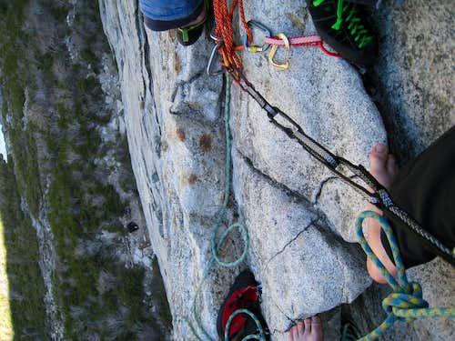 Bear's reach belay ledge 1