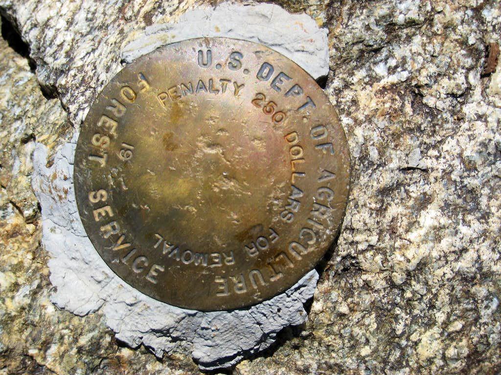 Marker on Antimony Peak (6848')