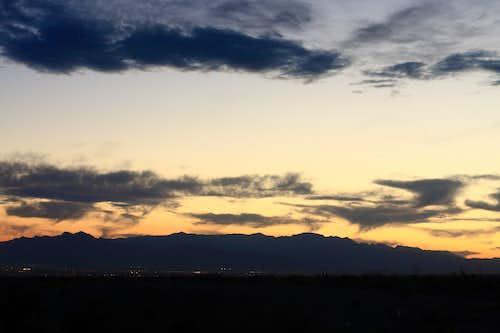 Spring Mountains at sunset