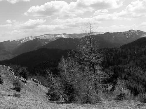 The main ridge of Velká Fatra