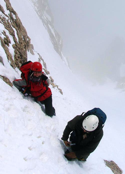 A little break, before reaching the summit