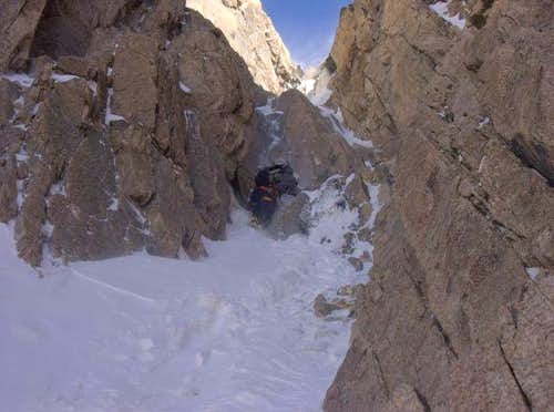 Belay area for pitch 4 on Martha