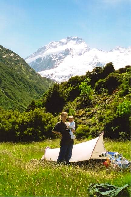 Camping at Mt. Cook National...