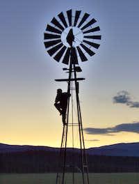 Windmill at Beaty Lakes, Valle Vidal, New Mexico